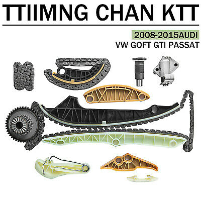 13Pcs Timing Chain Tensioner Kit OEM For Audi A4 A5 Q5 TT VW GTI Tiguan CC 2.0L