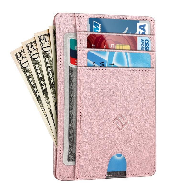 Slim Wallet Secure Men Women RFID Blocking Money Credit Card Holder Wallets
