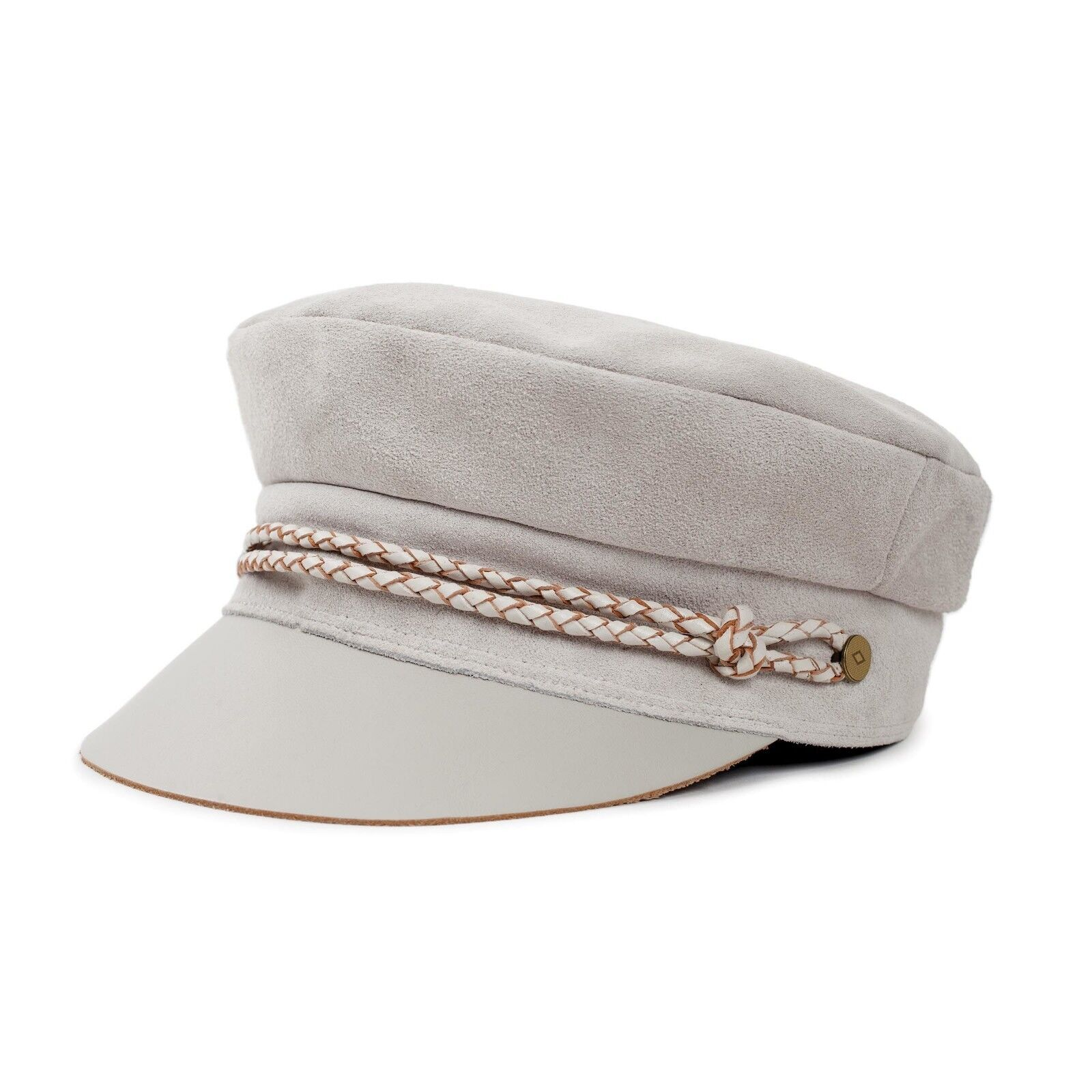 Women's BRIXTON Kayla Cream Suede Leather Moto Cap Size XS 6 3/4 – Fast Shipping Clothing, Shoes & Accessories