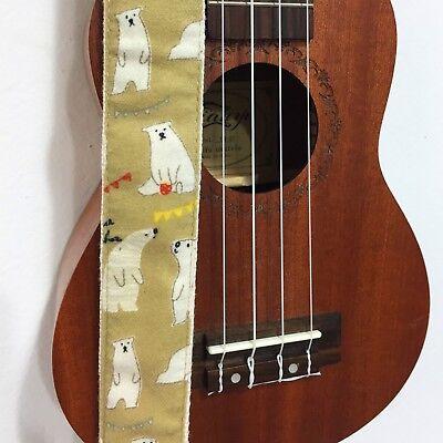 Funny Cartoon Polar Bear ukulele straps ukulele shoulder straps fits for all uke for sale  Shipping to Canada