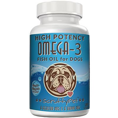 ScruffyPet Pure Omega 3 Wild Fish Oil For Dogs With Vitamin E (1000mg) 180