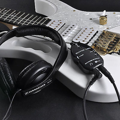 Top Black Guitar to USB Interface Link Cable Audio Adapter for PC/MAC Recording Usb Guitar Cable