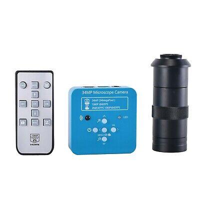 34mp Tv Hdmi Usb Industry Digital C-mount Video Microscope Camera 100x C-mount