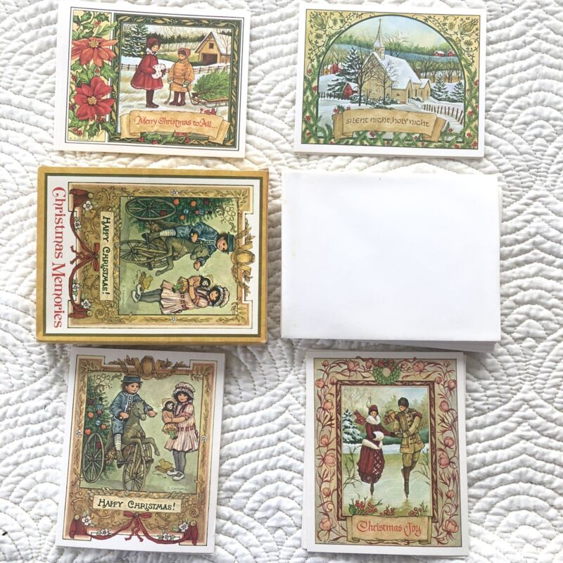 Current Christmas Memories Holiday Card Set Of 12 W envelopes Vintage Victorian