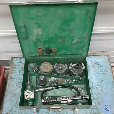Greenlee 7310 Hydraulic Knockout Punch Driver Set W767 Complete Ed4u9030