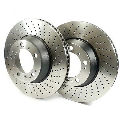 REAR DRILLED BRAKE DISCS FIT PORSCHE 911 996 3.6 CARRERA 4S C4S 00-04 BDS6380AX2