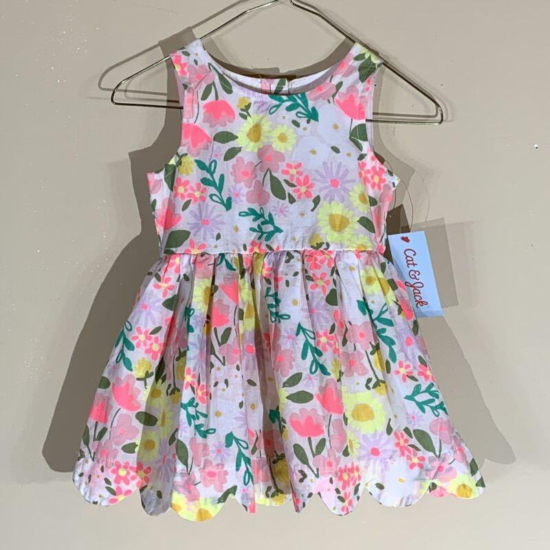 Cat & Jack Girls Floral Sleeveless dress - Size 18 Months