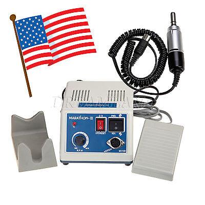 Dental Lab Marathon Micromotor Polishing Machine 35k Rpm Handpiece In Usa N3hot