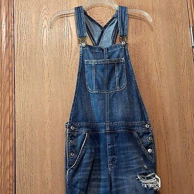Vintage Overalls & Jumpsuits American Eagle denim overalls womens size medium skinny distressed  $31.50 AT vintagedancer.com