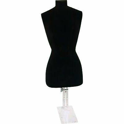 Black Necklace Bust Jewelry Body Window Case Displays