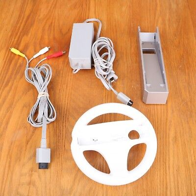 Nintendo Wii Accessories AC Adapter AV Cable Wheel Pedestal for sale  Shipping to India