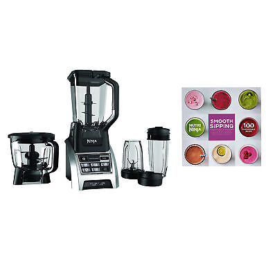 Ninja 1500W 72 Ounce Professional Kitchen Blender System with 100 Recipe Book