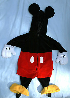 Mickey Maus Plüsch Halloween Kostüm Sz 6 - 12 Mos Baby Kleinkind Walt Disney