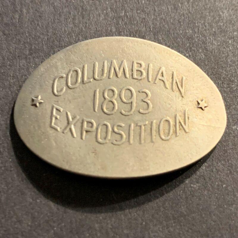 1891 Elongated Nickel Columbian Exposition Liberty V Nickel - World