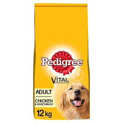 12kg Pedigree Adult Complete Dry Dog Food Chicken & Vegetables Dog Biscuits