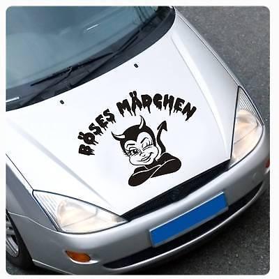 Böses Mädchen Autoaufkleber Aufkleber Hexe Böhses Witch Besen Katze A3020