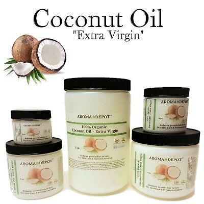 Coconut Massage Oil - Raw Coconut Oil Extra Virgin Unrefined Organic Pure For Hair 2oz  4 8 16 32 3 Lb