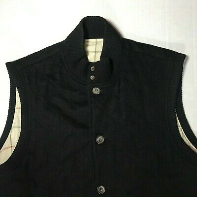 LORO PIANA 100% CASHMERE Quilted Vest - XXL Black Soft