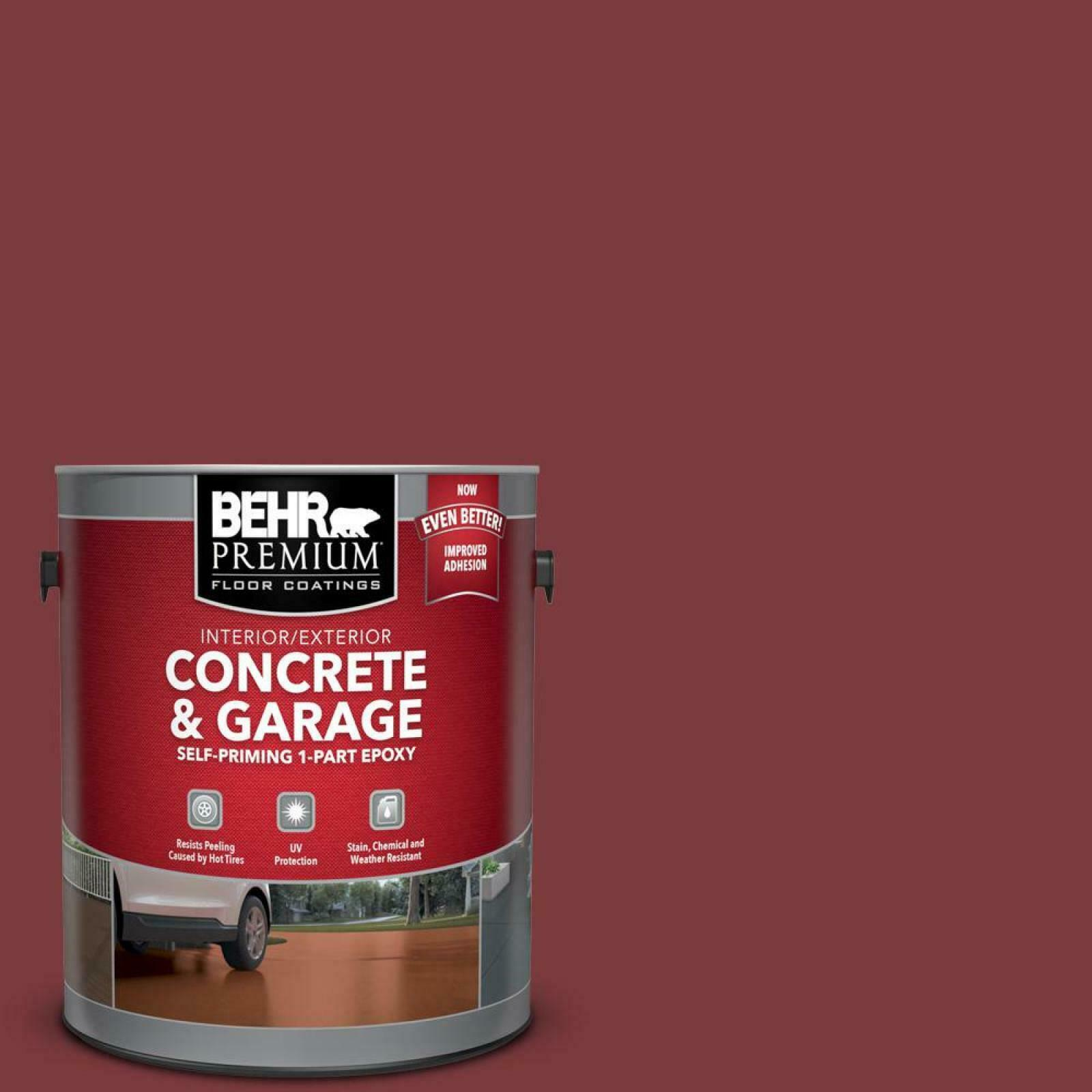 Brick Red 1 Gal. Epoxy Concrete Garage Floor Paint Satin