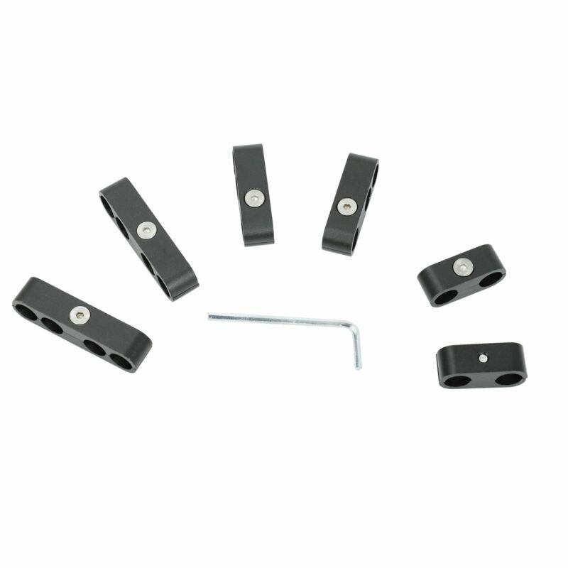 Spark Plug Wire Separators Aluminum Black 7mm 8mm 9.5mm For Loom 302 350 454