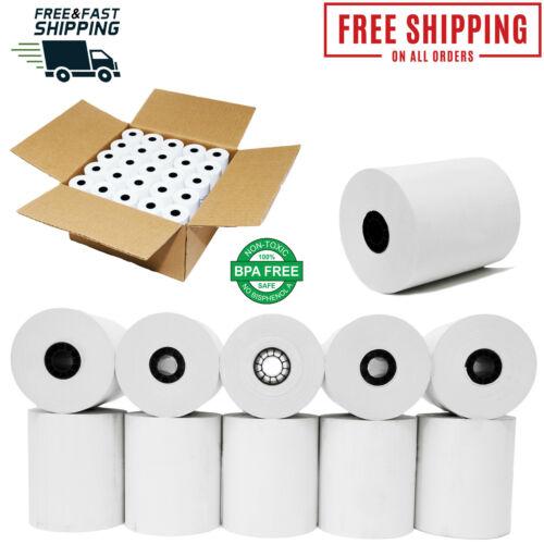 3 1/8 X 230 THERMAL RECIEPT PAPER 50 ROLLS BPA FREE ROLLS  CASH REGISTER ROLLS