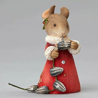 Enesco Heart of Christmas Holiday Mouse With Seeds Garland 4052776