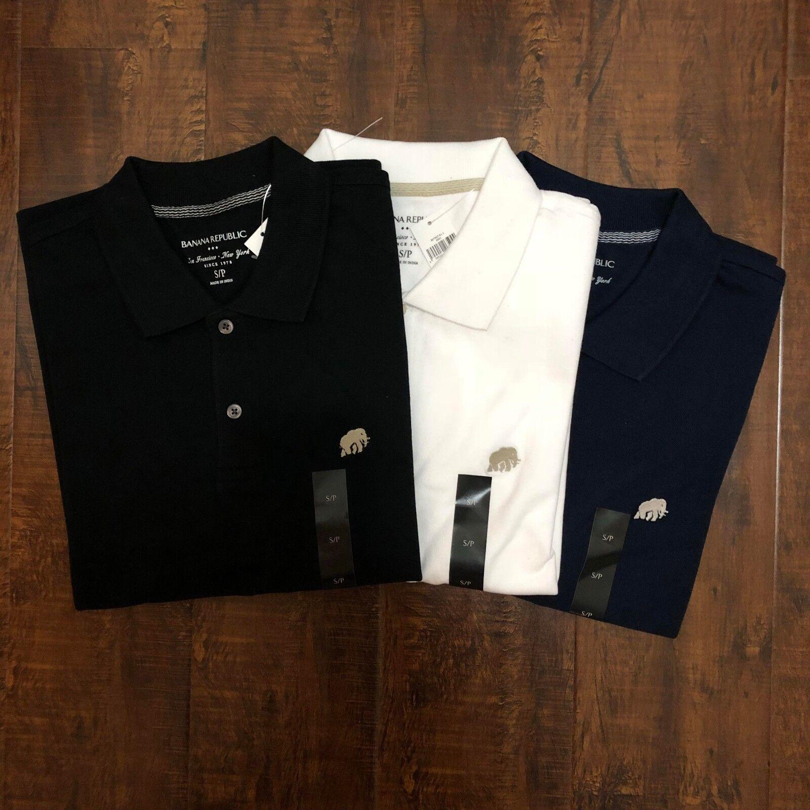 Men's NWT Banana Republic Untucked Fit M L//S Geometric Stretch Shirt Navy N50