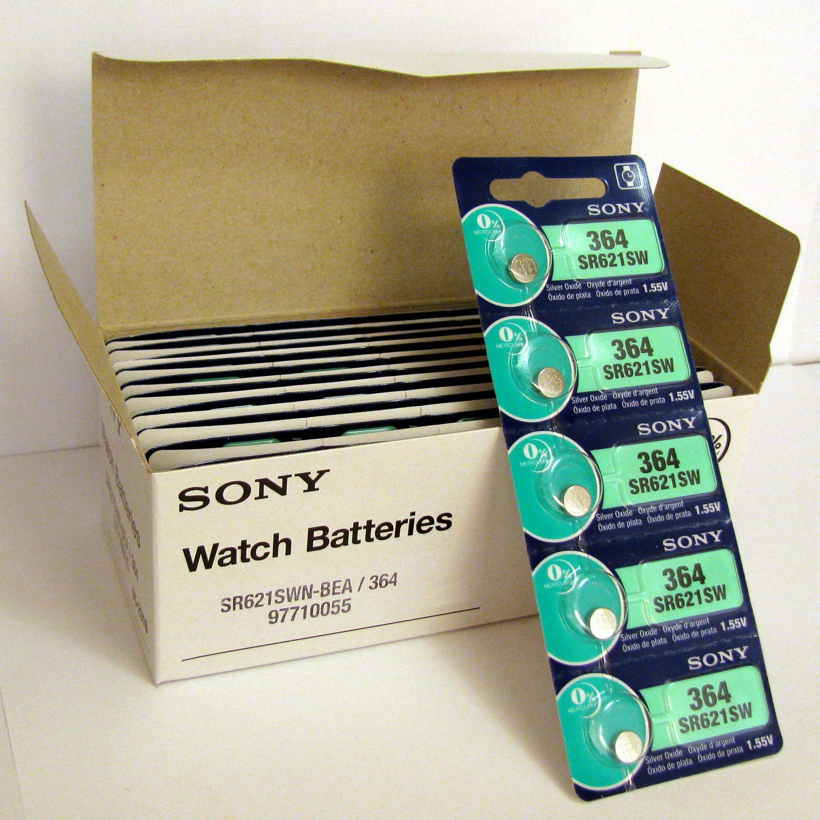 5 NEW SONY 364 SR621SW SR621 V364 LR621 SR60 Watch Battery EXP 03-2021 - FRESH