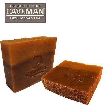 Handcrafted Caveman® Beard Oil Beard Shampoo Wash Custom Soap Bay Rum