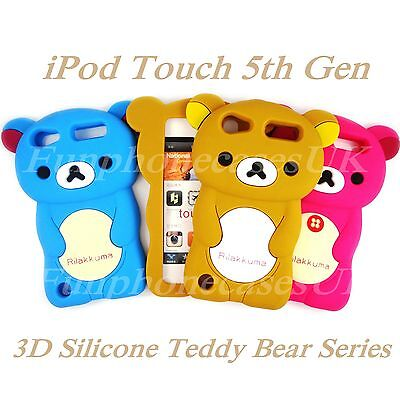 Cute Rilakkuma 3D Teddy Bear iPod Touch 5th Case Silicone 5g Choice Of Colour