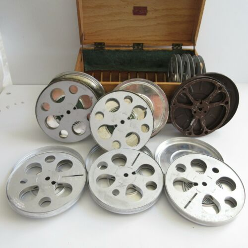 Nega File Co. Movie Reels Wooden Storage Box Dove Tailed Vintage Wood Metal Odor