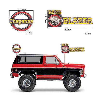 2pcs 3D Metal Plate Logo Sticker Set for Traxxas Trx-4 RC4WD Chevrolet K5 Blazer