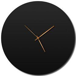 Modern Wall Clock Contemporary Kitchen Decor Black Minimalist Accent Abstract Ho