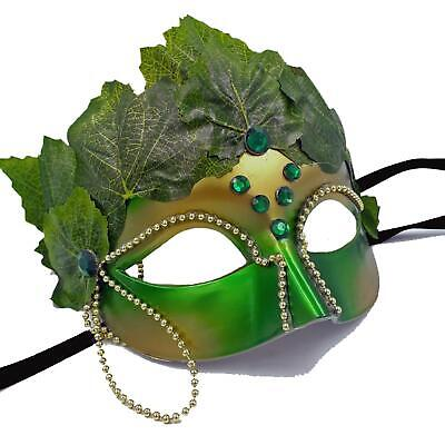 st Fairy Tale Nymph Halloween Cosplay Costume Accessory Mask (Green Ivy Kostüm)