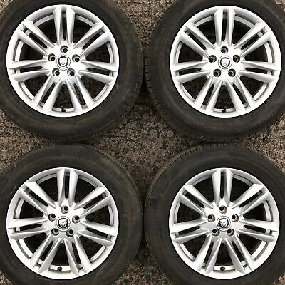 "Set 4 Genuine Jaguar XF Ursa 17"" Alloy Wheels Tyres 235 55 10 spoke 5x108mm XE"