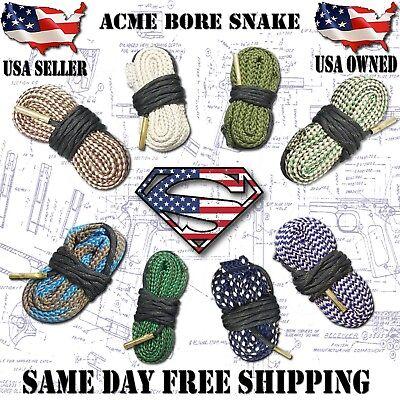 ACME Bore Snake Gun cleaning - 17 223 5.56 270 30 9mm 40 45 - 10 12 16 20 410 GA