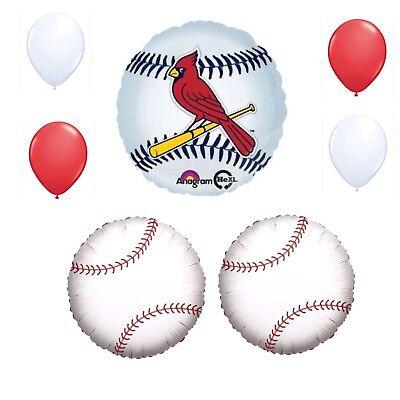 St Louis Cardinals Party Decorations (St Louis Cardinals 7 Piece Balloon Bouquet Birthday Party Decorations)
