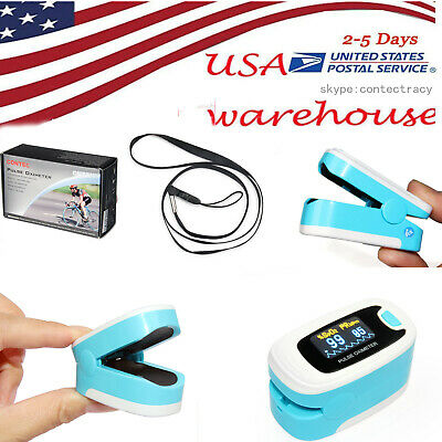 Us Fingertip Pulse Oximeter Oled Heart Rateblood Oxygen Metero2 Sensor Monitor