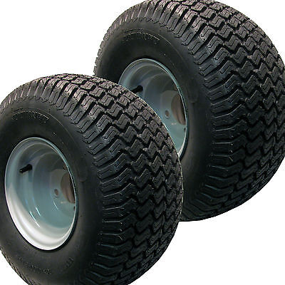 2) 20x10.00-8 Turf Tires Wheels Rims Off Road Go Kart Fun Cart Dune Buggy 4-Hole