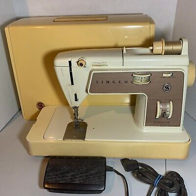 Singer 758 Touch & Sew Zig Zag Sewing Machine + Pedal & Case | Vintage [Tested]