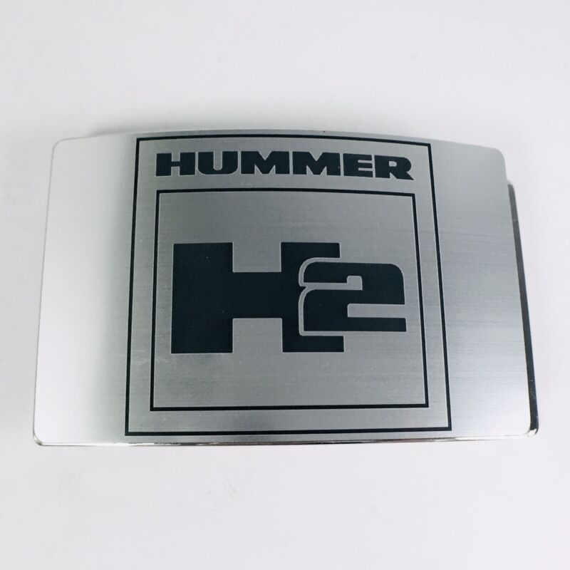 H2 Hummer Belt Buckle Official GM Silver Tone by Buckle-Down