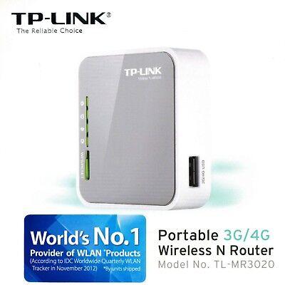 TP-LINK TL-MR3020 V3 Portable 3G 4G USB Modem Wireless N WiFi 300Mbps Router