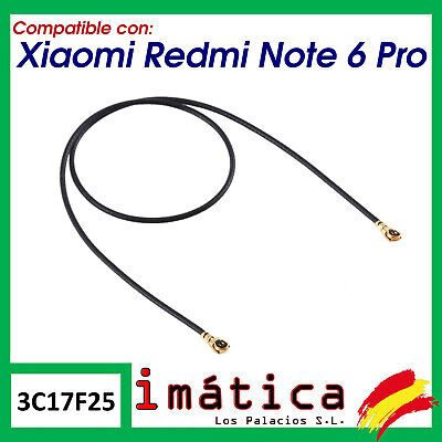 CABLE ANTENA PARA XIAOMI REDMI NOTE 6 PRO CONECTOR COAXIAL FLEX WIFI...