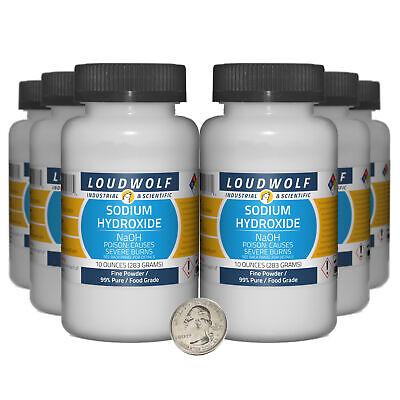 Sodium Hydroxide 3.8 Pounds 6 Bottles 99 Pure Food Grade Fine Powder