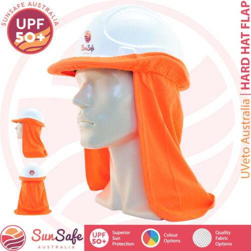 Hard Hat Helmet Sun Protection Flap High Vis Colours Cotton/Micro Mesh UPF 50+