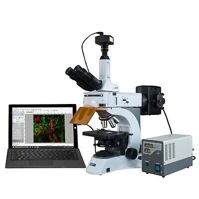 Omax 40x-1000x Infinity Epi-fluorescent Microscope With 1.4mp Ccd Digital Camera