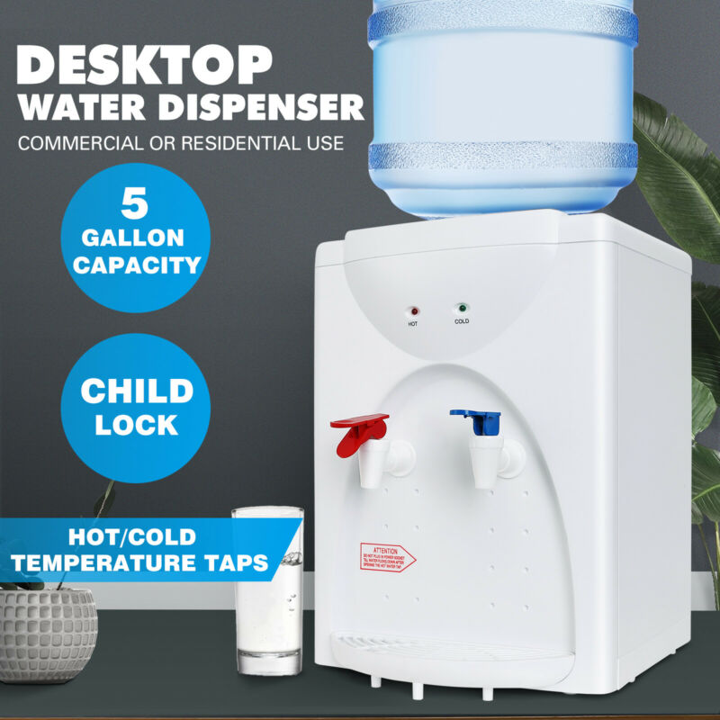 5 Gallon Desktop Electric Hot/Cold Water Cooler Dispenser Child Lock Home/Office