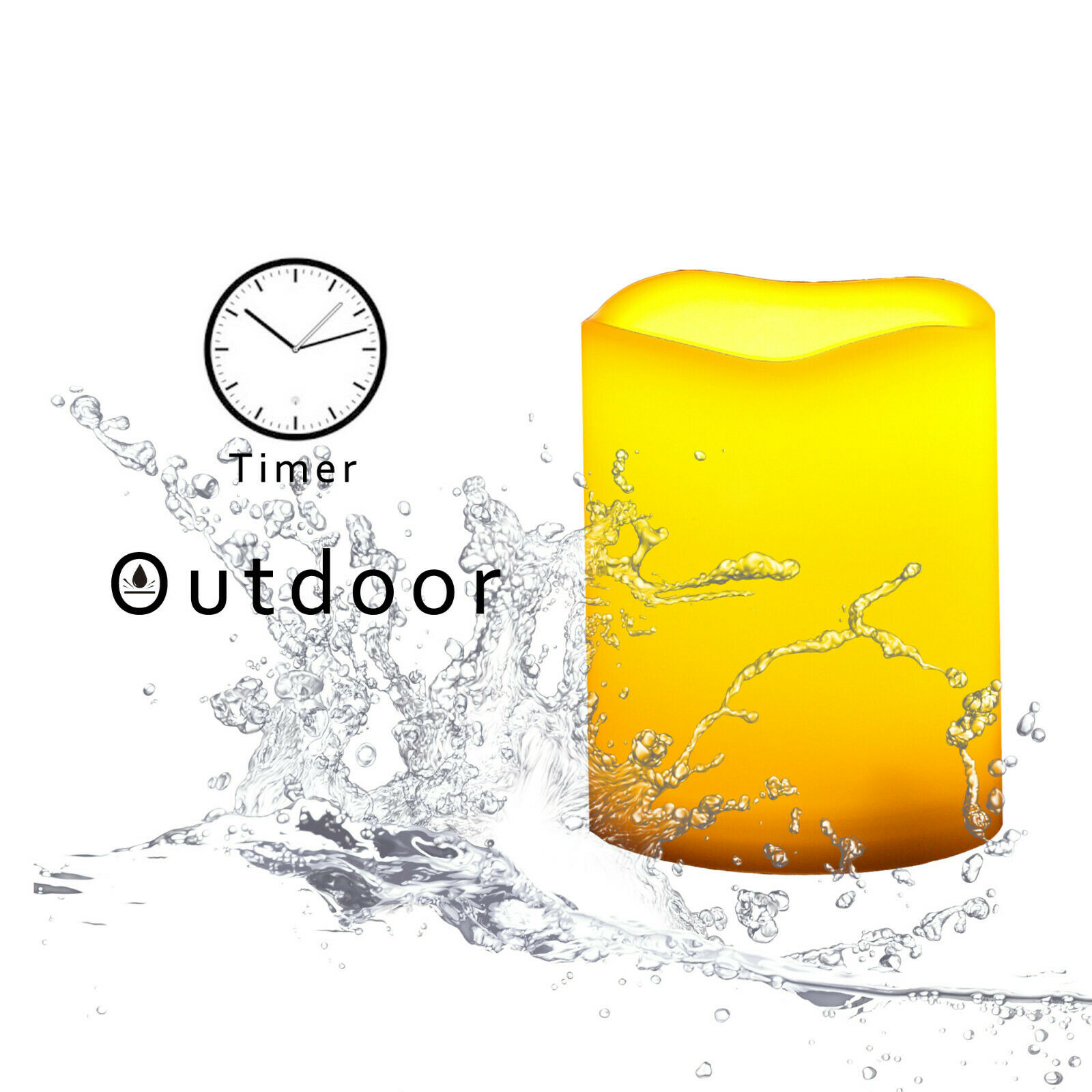 outdoor waterproof battery operated flameless led candle