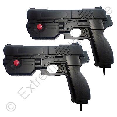 2 x Pack Ultimarc AimTrak Black Arcade Light Guns with Line of...