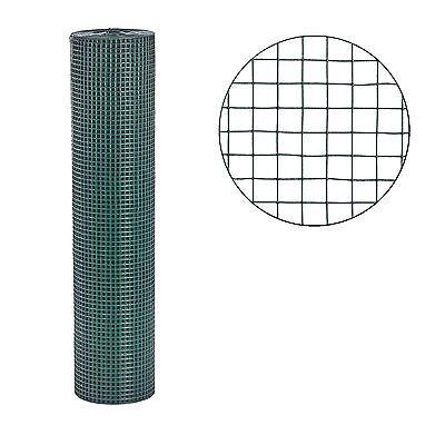 Volierendraht grün 1m x 25m 12x12mm Drahtgitter Maschendraht Schweißgitter Zaun